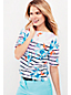 Women's Jersey Elbow Sleeve Floral/Stripe T-shirt
