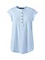 Women's Sleeveless Linen Jersey Ruffle Henley Top