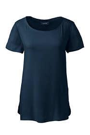 Women's Short Sleeve Crepe Tee