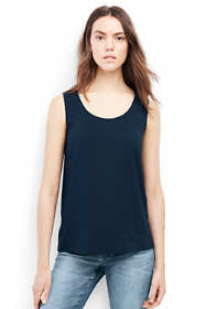 Women's Petite Sleeveless Crepe Tank