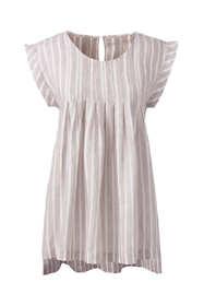 Women's Petite Sleeveless Pleated Linen Top