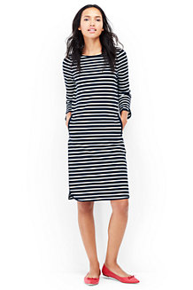 Women's Ponte Jersey Stripe Shift Dress