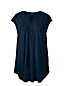 Women's Plus Cap Sleeve Shirred Split Neck Tunic