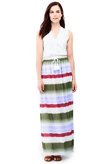 Gestreifter Maxirock im Batik-Look für Damen