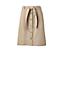 La Jupe Boutonnée en Chino Stretch, Femme Stature Standard