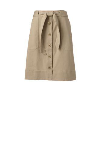 Women's Button Front A-line Skirt