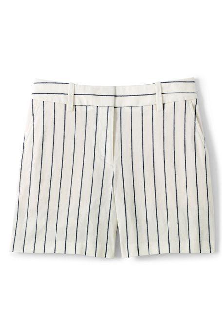 Women's Petite Stretch Linen Shorts