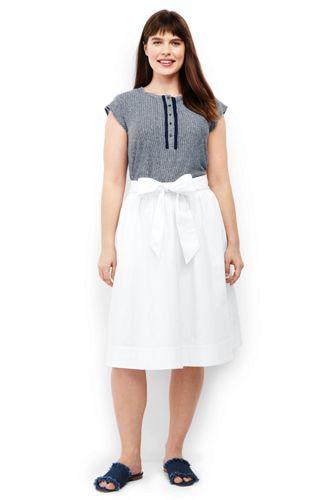 2ba4a0eccfe9b Women s Plus Size Woven A-line Skirt
