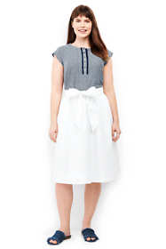 Women's Plus Size Woven A-line Skirt