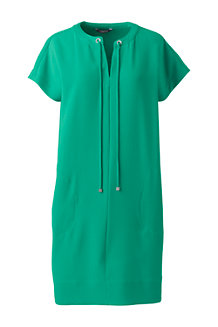Women's Satin Back Crêpe Shift Dress