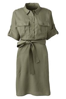 Hemdblusenkleid im Worker-Stil für Damen