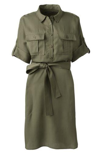 Hemdblusenkleid im Worker-Stil für Damen in Normalgröße