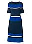 Supima-Feinstrickkleid mit Colorblock-Streifen