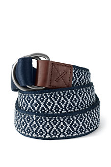 Men's D-ring Cotton Webbing Belt