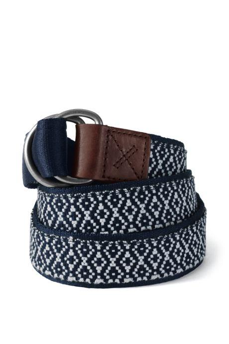 Men's D-Ring Web Belt