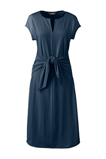 Women's Soft Stretch Jersey Tie Front Dress