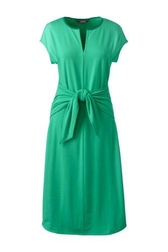 Jerseykleid mit Bindebändern für Damen in Normalgröße