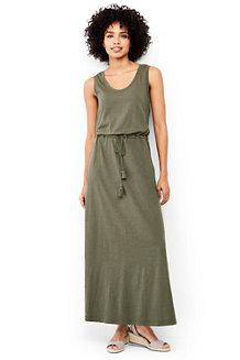 La Maxi Robe en Jersey Sans Manches, Femme