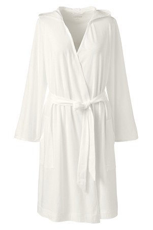 ef39ca07e0 Women's Hooded Knee Length Dressing Gown | Lands' End