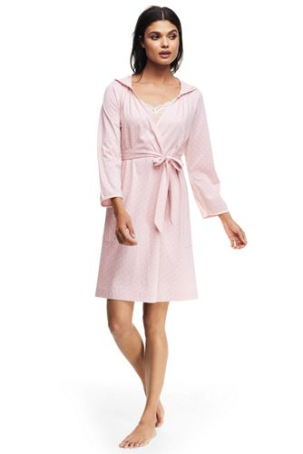 82be9f6995 Women s Hooded Knee Length Dressing Gown