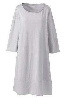 La Chemise de Nuit Manches 3/4 en Coton Modal, Femme