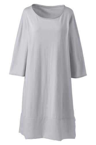 La Chemise de Nuit Manches 3/4 en Coton Modal, Femme Stature Petite