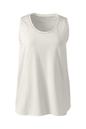 Pyjama-Top im Baumwoll-Modal-Mix für Damen in Normalgröße