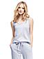 Gemustertes Pyjama-Top im Baumwoll-Modal-Mix für Damen in Normalgröße