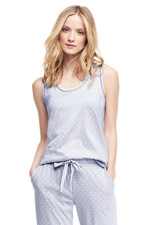 finest selection 1065d 90811 Gemustertes Pyjama-Top im Baumwoll-Modal-Mix für Damen ...