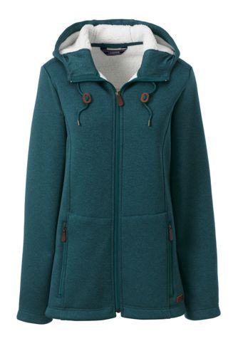 Women's Hooded Fleece-lined Jacket
