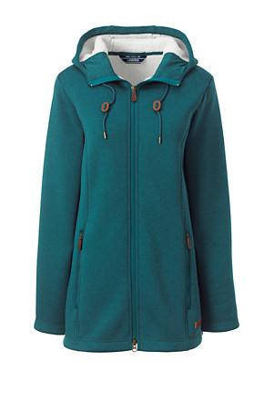 686fd289d33 Women's Hooded Fleece-lined Longline Jacket