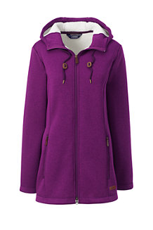 Women's Hooded Fleece Longline Jacket