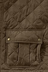 Primaloft Quilted Car Coat 489376: Teak Brown