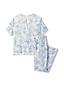 L'Ensemble Pyjama Satiné à Motifs, Femme Stature Standard