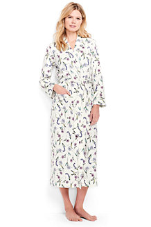 Women's Bracelet Sleeve Patterned Supima Dressing Gown