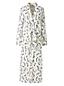 Women's Regular Bracelet Sleeve Patterned Supima Dressing Gown