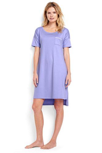Women's Regular Short Sleeve Knee Length Supima Nightdress