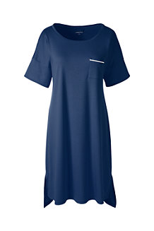 Women's Short Sleeve Knee Length Supima Nightdress