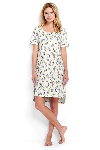 La Chemise de Nuit Supima Courte Imprimée, Femme Stature Standard