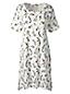 Women's Regular Short Sleeve Knee Length Patterned Supima Nightdress