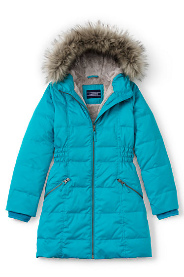 Girls Fleece Lined Down Coat from Lands' End