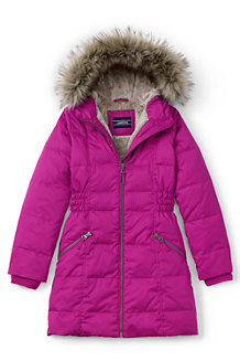 Girls' Fleece Lined Down Coat