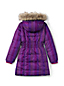 Little Girls' Fleece Lined Patterned Down Coat