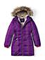 Le Manteau en Duvet Doublé Imprimé à Capuche et Manches Longues, Petite Fille