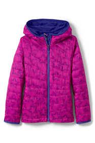 Girls Packable Primaloft Printed Jacket