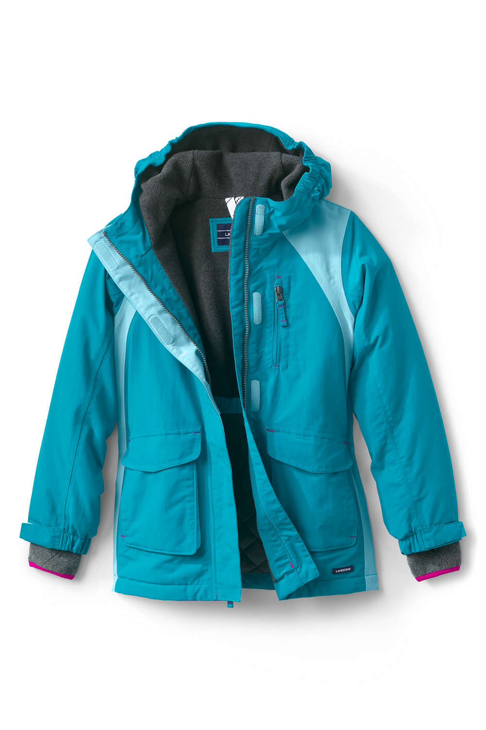 4a8ac6260 Girls Squall Waterproof Winter Parka from Lands' End