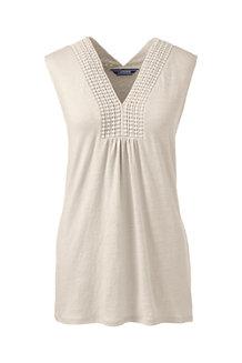 Women's V-neck Linen Vest Top