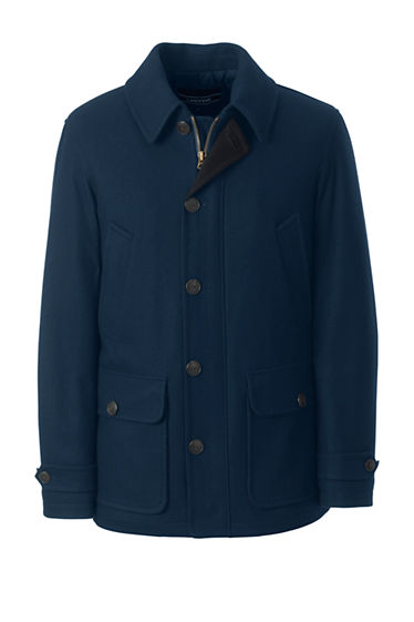 Men's Wool Car Coat from Lands' End