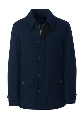 Wool Car Coat 490793: Classic Navy