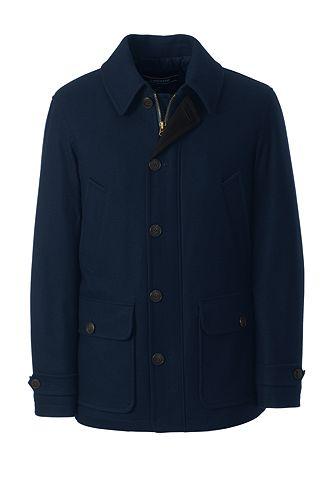 Wool Car Coat 490793: Classic Navy